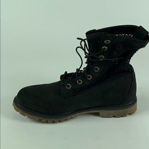 Timberland Men's Lace Up Boots Shoes Black Size 8